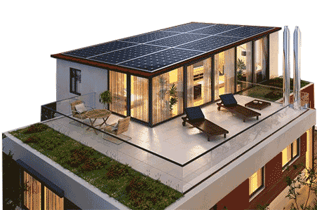 Rooftop solar for home